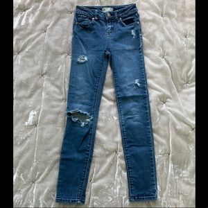 Girls RSQ Distresses High Rise Skinny Jeans